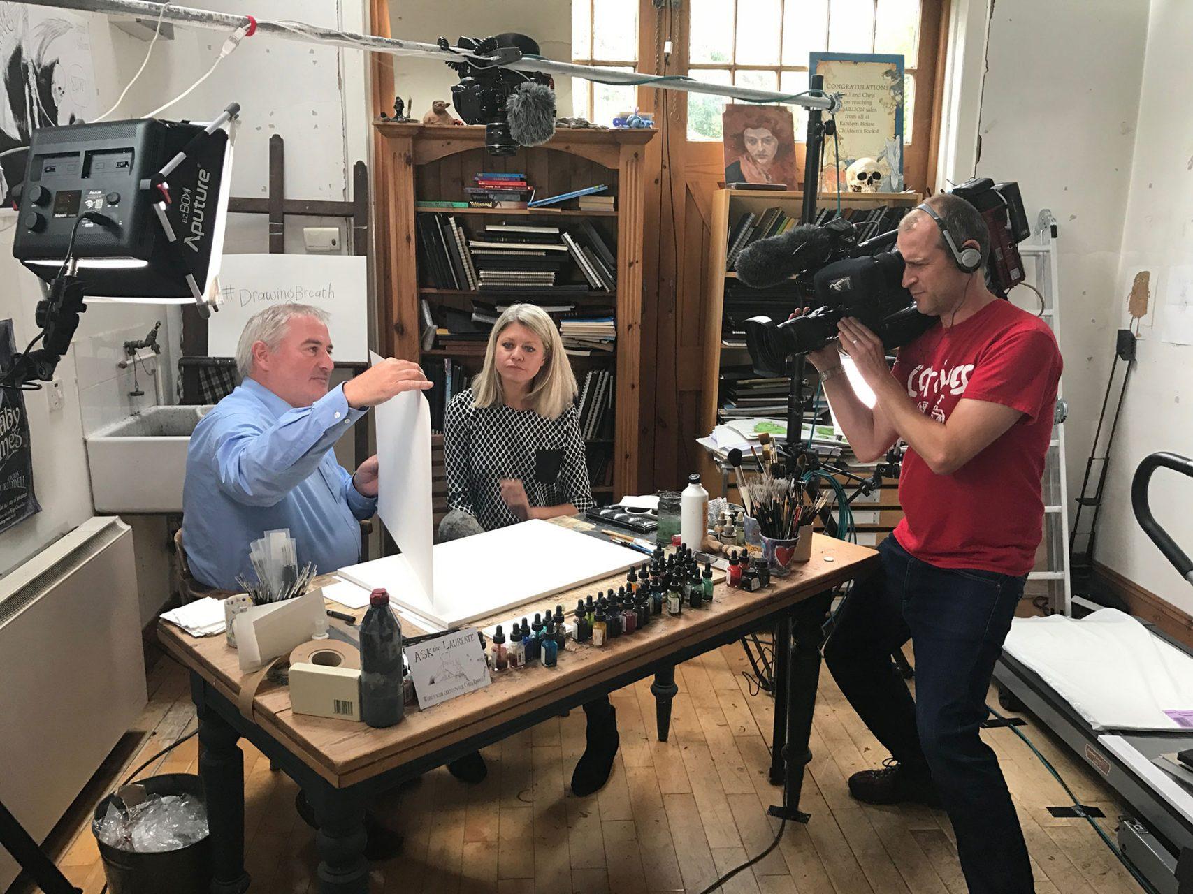 BBC interview Chris Riddell for Fieldcraft Studios social media campaign