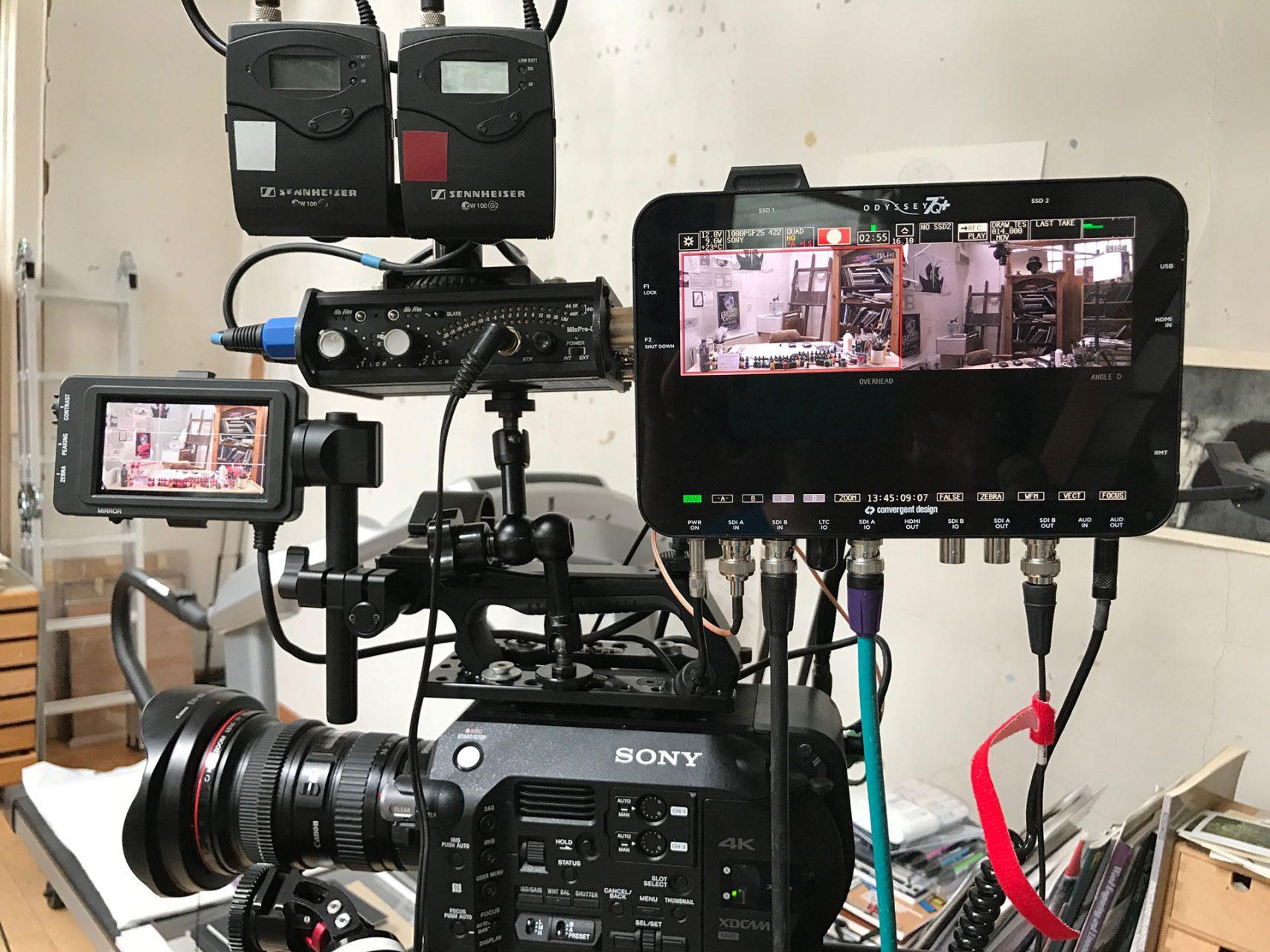 Fieldcraft Studios cameras ready to go - Facebook Live event