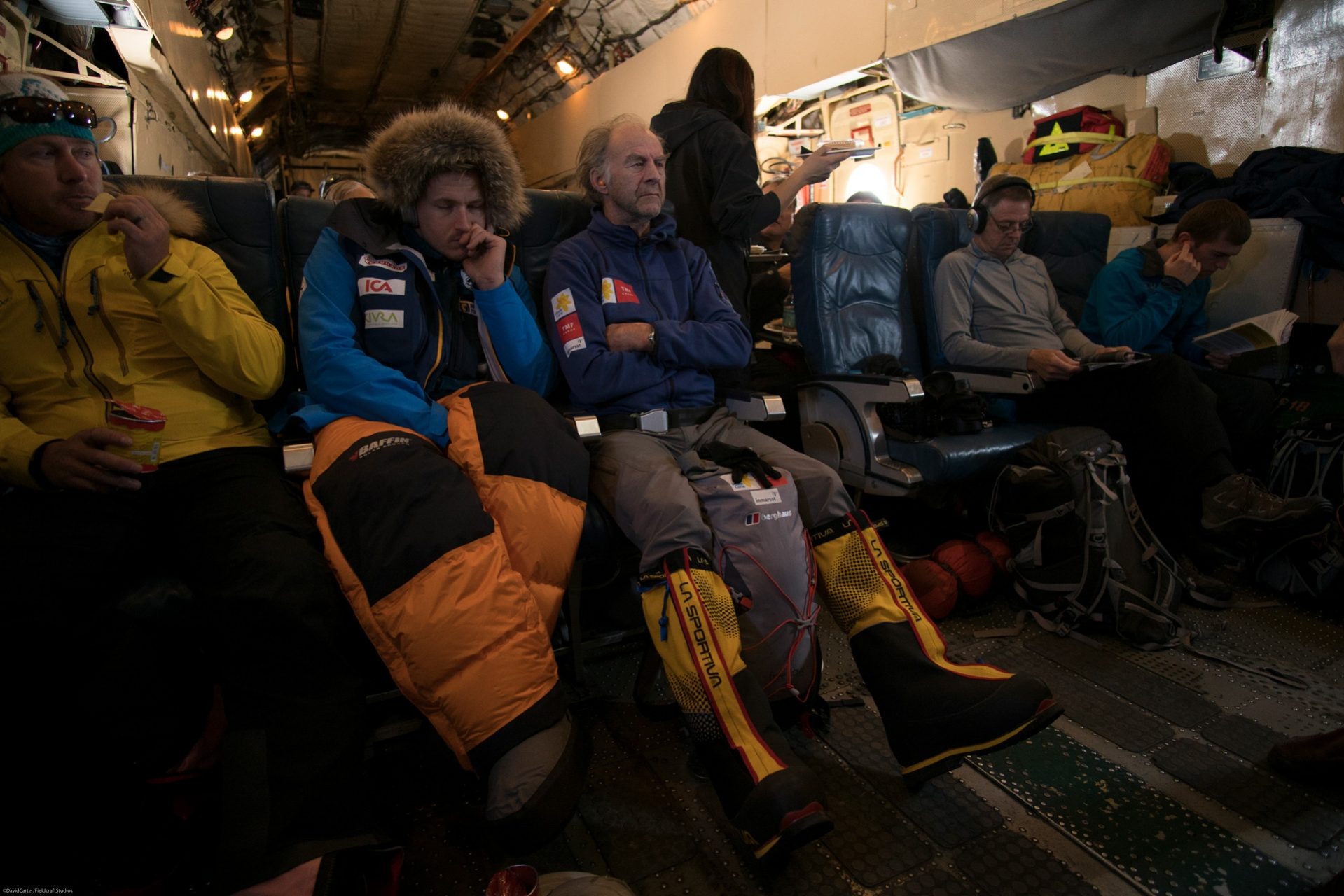 Filming with Ranulph Fiennes - Fieldcraft Studios flying to Antarctica