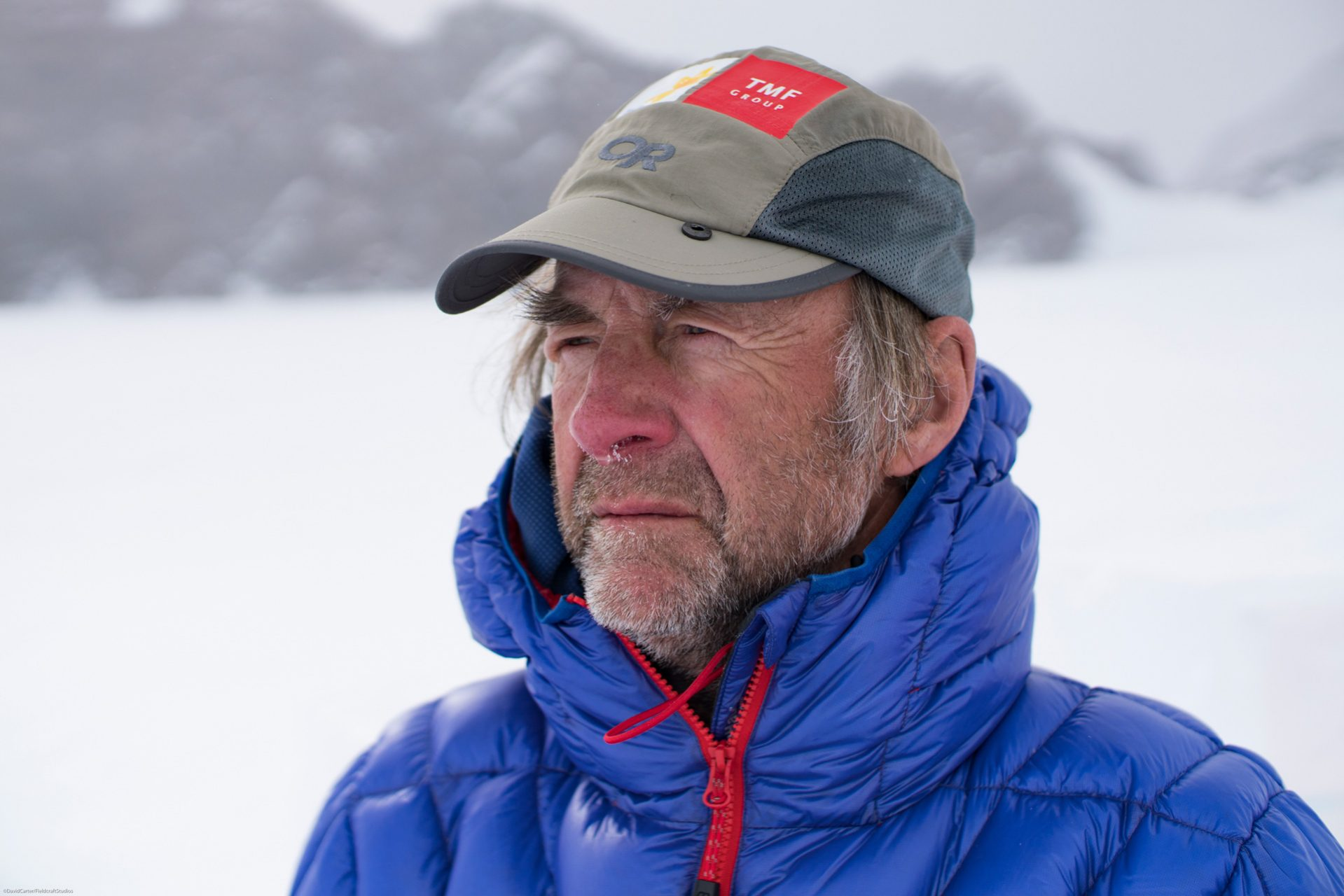Filming with Ranulph Fiennes in Antarctica - just before climb of Mount Vinson